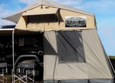 Tente de toit de luxe avec échelle et annexe