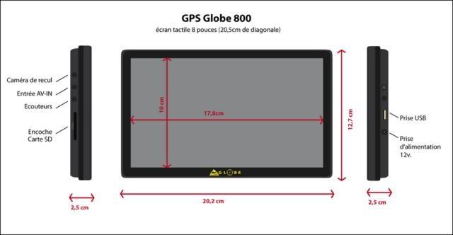 Gps Globe 4x4 800