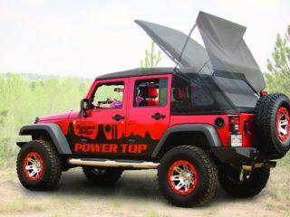 Power TOP Kit, 07-14 Jeep Wrangler Unlimited (JK), Noir