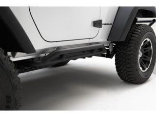 Barres latérales RRC Rocker Guards, Black, 07-14 Jeep Wrangler (JK) 2 portes
